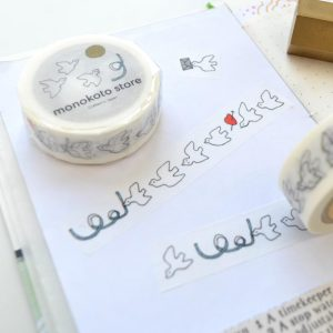 Monokoto x Yuko Kajikawa Washi Tape - Peace Bird 03